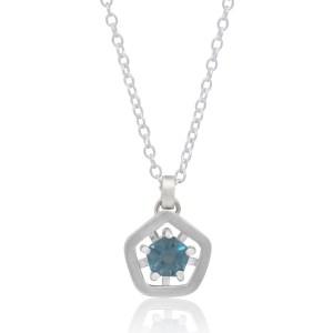 Hope simple pendant - deep blue