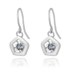 Hope drop earrings - blue