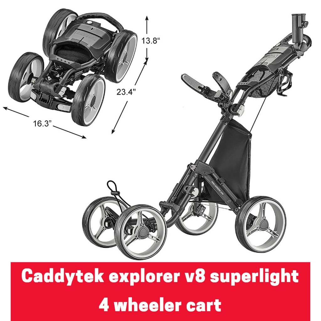 Caddytek explorer v8 superlight 4 wheeler push cart
