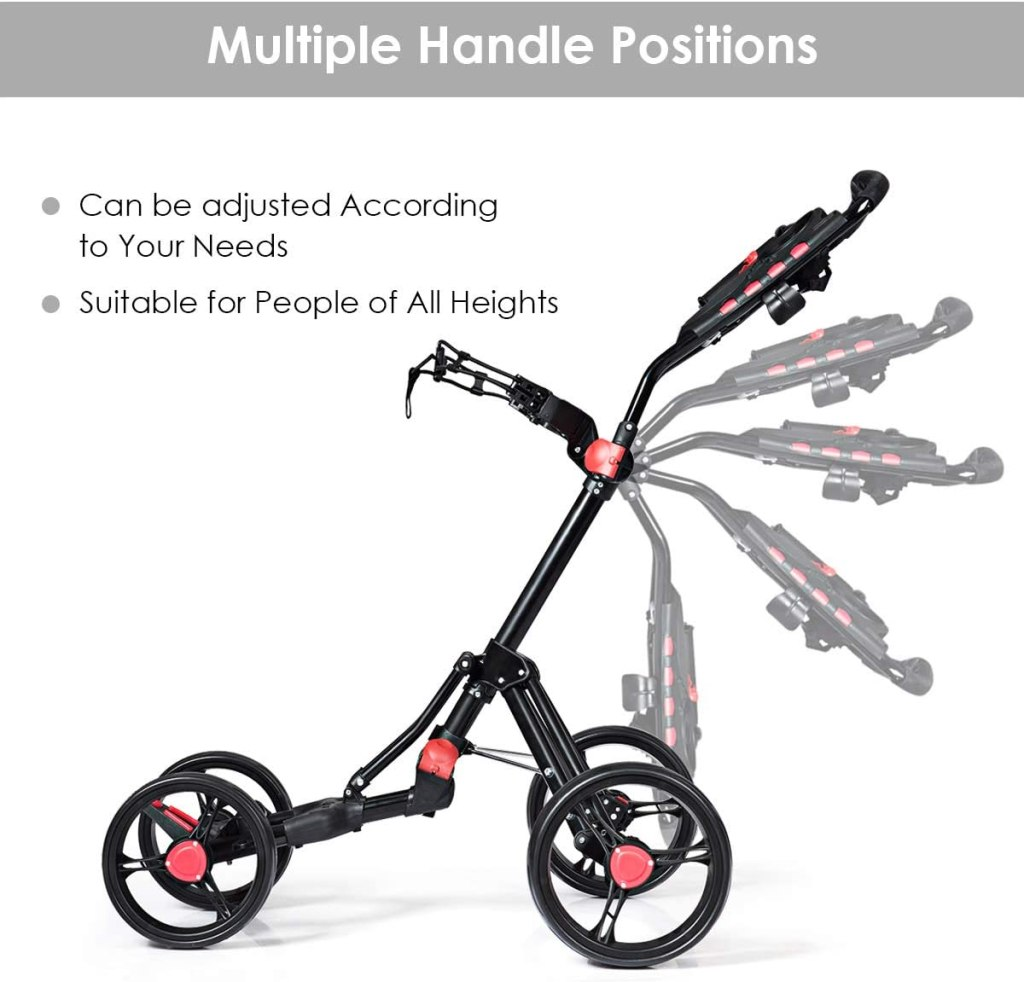 Tangkula 4 Wheels Push Golf Cart handle