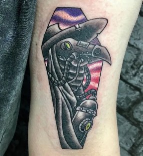 plague doctor steampunk tattoo