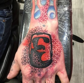 Heather Skateboards hand piece