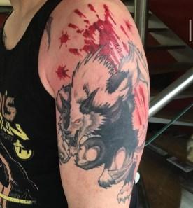 werewolf tattoo