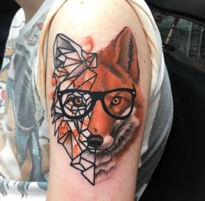 Painty Geometric Fox