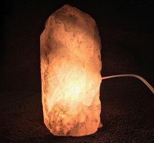Rose Quartz Lamp 6in Turned on web20