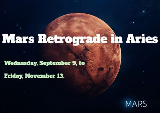 Mars retrograde in Aries