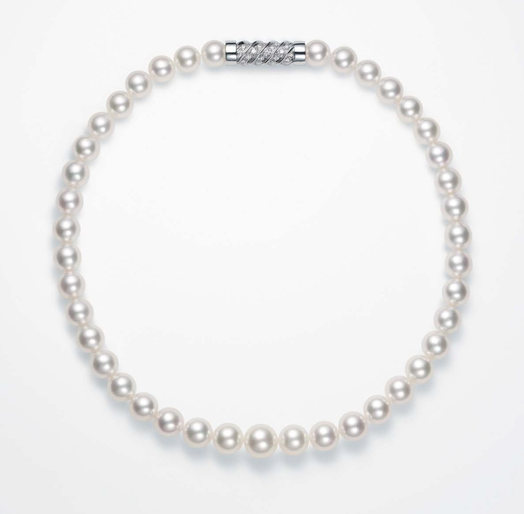 Takahashi Pearl Diamond Necklace