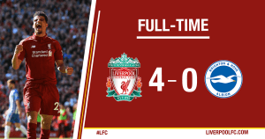 DOWNLOAD VIDEO: Liverpool vs Brighton 4-0 – Highlights & Goals