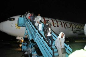 PHOTOS: Stranded Nigerians In Russia Arrive In Abuja