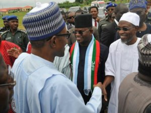 PHOTOS: Ekiti People Defy Fayose's Orders, Troop Out For Buhari And Fayemi