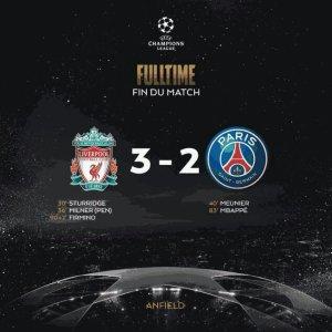 VIDEO: Liverpool 3 vs 2 Paris Saint Germain (Champions League) – Highlights & Goals