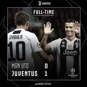 Manchester United 0 vs 1 Juventus (Champions League) - Highlights & Goals