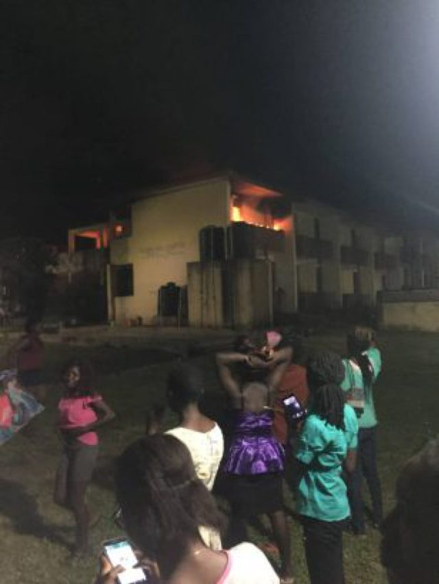 Fire Gutted OAU Female Hostel With The Student's Properties