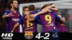 Tottenham 2 vs 4 Barcelona (Champions League) Highlights & Goals