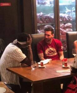 What Pogba Discussed With Messi On Friday Night In Dubai (Pictures)