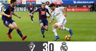 Video: Eibar 3 vs 0 Real Madrid (Laliga) – Highlights & Goals