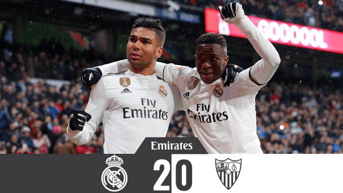 Real Madrid vs Sevilla 2-0 – Highlights & Goals