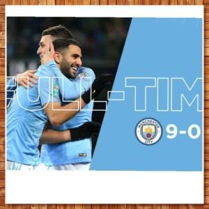 Manchester City vs Burton 9-0 – Highlights & Goals