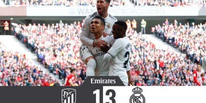Atletico Madrid vs Real Madrid 1-3 - Highlights & Goals