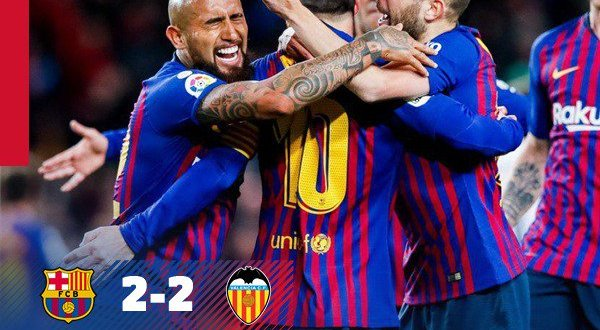 Barcelona vs Valencia 2-2 - Highlights & Goals