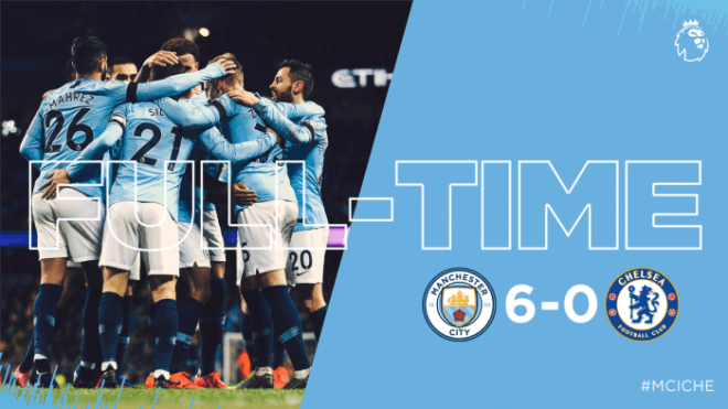 Manchester City vs Chelsea 6-0 - Highlights & Goals