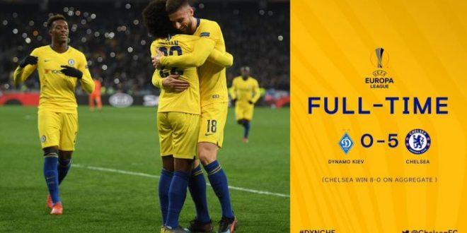 Dynamo Kyiv vs Chelsea 0-5 (AGG 0-8) - Highlights & Goals