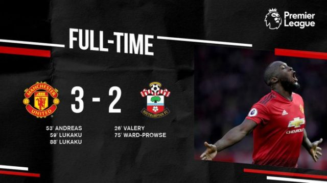 Manchester United vs Southampton 3-2 - Highlights & Goals