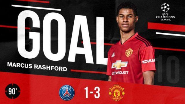 PSG vs Manchester United 1-3 (AGG 3-3)- Highlights & Goals