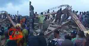 2-storey Building Collapses In Ibadan, Many Trapped Inside (Video)