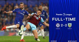 Chelsea vs Burnley 2-2 - Highlights & Goals