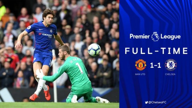 Manchester United vs Chelsea 1-1 - Highlights & Goals