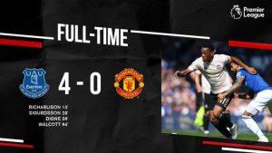 Everton vs Manchester United 4-0 - Highlights & Goals