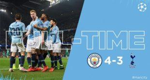 Manchester City vs Tottenham 4-3 (Agg 4-4) - Highlights