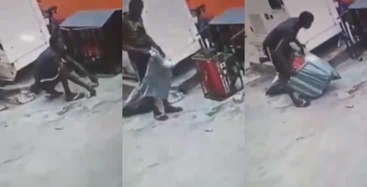 Man Caught Stealing Generator In Lagos By CCTV (Video)