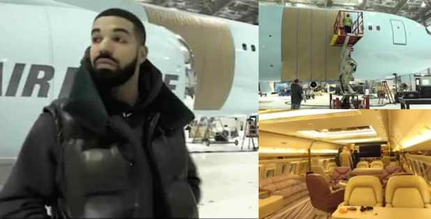 Drake Acquires New Private Plane Named Air Drake (Video)