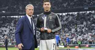 Ronaldo Sets Another Record As He Won Serie A Best Player Award (Photos)