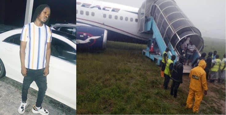 Naira Marley Narrowly Escapes Plane Mishap (Air Peace)