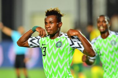 """Super Eagles winger, Samuel Chukwueze, has said he is excited about winning the Man of the Match Award, after scoring in their 2-1 win over South Africa on Wednesday. Chukwueze netted the first goal of the game in the 27th minute, after being set up by Alex Iwobi. After then, the Villarreal star continued to torment the Bafana Bafana backline and almost set up more goals for Gernot Rohr's side. His impressive display was enough, to see him win the MOTM prize. """"It's my first tournament with the senior side and it feels good to earn a win for my team by scoring. """"It's more special to get the MotM trophy,"""" he said after he was presented with the award. Nigeria will now play the winner of the Cote DÍvoire vs Algeria quarter-final match which comes up on Thursday."""