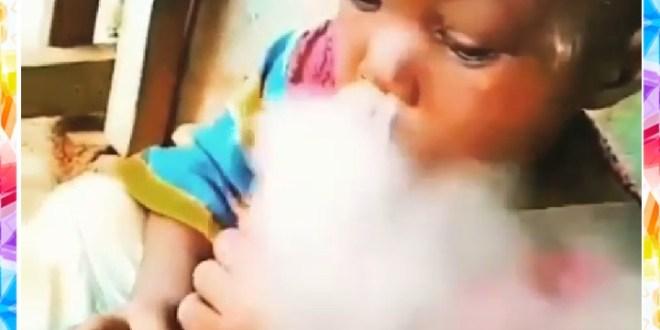 Watch Video Of A Kid Smoking Shisha Joyfully