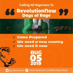 RevolutionNow: Vows To Go Ahead With Protest, Releases List Of Demands