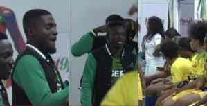 #Bbnaija : Super Eagles Players Surprised Housemates (Photos)