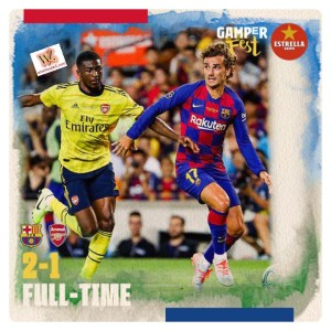 Barcelona vs Arsenal 2-1 Highlights