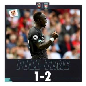 Southampton vs Liverpool 1-2 Highlights (Download Video)