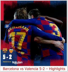 Barcelona vs Valencia 5-2 - Highlights