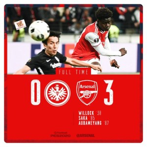 Eintracht Frankfurt vs Arsenal 0-3 Highlights (Download Video)