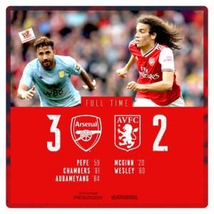 Arsenal vs Aston Villa 3-2 Highlights Download