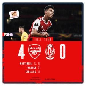 Arsenal vs Standard Liege 4-0 Highlights (Download Video)