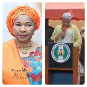 Nasarawa First Lady Struggles With Her Speech in English (Video)