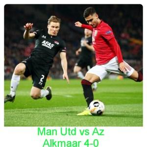 Manchester United vs Az Alkmaar 4-0 Highlights