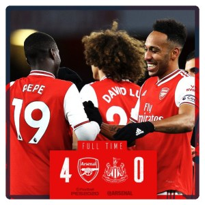 Watch Football Video: Arsenal vs Newcastle 4-0 Highlights (Download Video)
